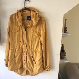 Nanette Lepore Golden Yellow Tencel Utility Jacket